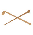 walking stick icon vector image