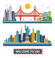 Welcome to USA vector image vector image