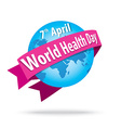 world health day concept with the earth vector image vector image