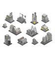 set factories plant isometry vector image