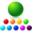 Set of brignt colored balls vector image
