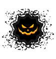 halloween sale sticker vector image
