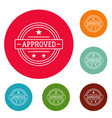 approved lgo simple style vector image
