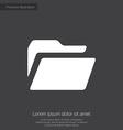 folder premium icon white on dark background vector image