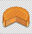 a moon cake isolated on transparent background vector image vector image