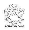 active volcano icon vector image vector image
