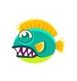 Agressive Round Turquoise Fantastic Aquarium vector image vector image