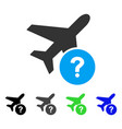 airplane status flat icon vector image
