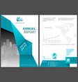 annual report template with geometric element vector image vector image
