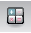 App icon calculator vector image vector image