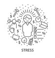 banners for stress vector image vector image