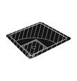 baseball court baseball single icon in black vector image vector image