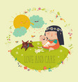 beautiful young mother hugging little toddler vector image vector image