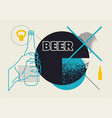 beer typographic abstract geometric grunge poster vector image vector image