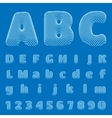 BluePrint Alphabet eps10 vector image