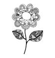 bohemian or boho style flower icon image vector image