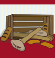 bread in a box vector image vector image