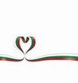 bulgarian flag heart-shaped ribbon vector image vector image