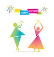 celebrate indian navratri festival poster design vector image