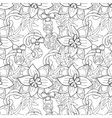 Christmas pattern - hand drawn doodle vector image vector image