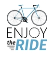 classic mens town road bike with enjoy ride vector image vector image