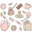 Coffee Time Set vector image vector image