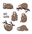 collection of cute cartoon vector image
