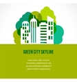 Colorful city real estate and skyline background vector image vector image