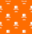 cylinder and moustaches pattern seamless vector image vector image