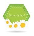 daisy label vector image vector image