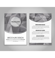 Design flyers and brochures polygonal vector image vector image