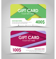 Design of gift cards in style of material design vector image vector image
