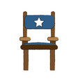 director wooden chair vector image vector image