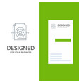 document file gear settings grey logo design and vector image vector image