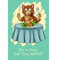 Dog eat dog world vector image vector image