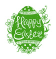Easter Egg With Greeting Text Inside vector image vector image