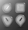 Felt pen Glass buttons vector image