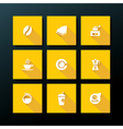 flat coffee icon set vector image