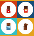 flat icon sweet set of bitter chocolate vector image vector image