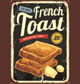 french toast restaurant sign vector image vector image
