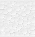 geometric pattern with white hexagons vector image vector image