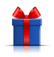 gift box blue icon open surprise present template vector image