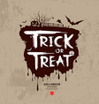 Halloween trick or treat message vector image vector image