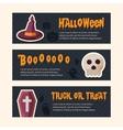 Happy Halloween banners vector image