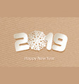 happy new year 2019 background with paper vector image