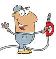 Hispanic Gas Attendant Man vector image vector image