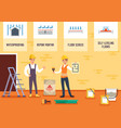 house floor repair and leveling concept vector image vector image
