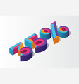 isometric 35 percent off 3d sale background vector image vector image