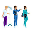 isometry of a woman medical workers vector image