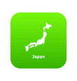 japan map icon simple style vector image vector image